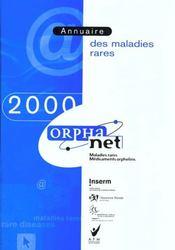 Annuaire 2000 Orphanet Des Maladies Rares - Intérieur - Format classique