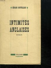 Intimites Anglaises. - Couverture - Format classique