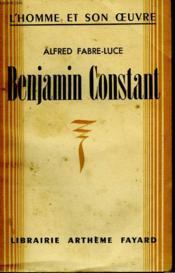 Benjamin Constant. - Couverture - Format classique