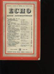 Echo. Revue Internationale. Ecrits, Faits Et Idees De Tous Pays. Tome 1. Numero 1. - Couverture - Format classique