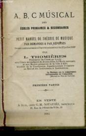 Petit Manuel De Theorie De Musique - Couverture - Format classique