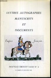 Catalogue De Vente Aux Encheres - Nouveau Drouot - Lettres Autographes Manuscrits Et Documents - Salle 8 - 20 Janvier 1981. - Couverture - Format classique