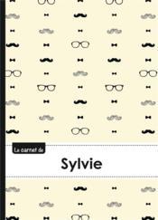 Carnet Sylvie Lignes,96p,A5 Moustachehispter - Couverture - Format classique