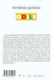 Odile - 4ème de couverture - Format classique