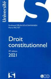 Droit constitutionnel (édition 2021) - Couverture - Format classique