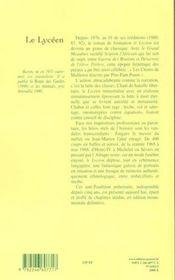 Le lyceen - 4ème de couverture - Format classique
