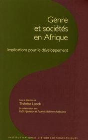 De la condition des femmes à l'emprise du genre en Afrique - Intérieur - Format classique
