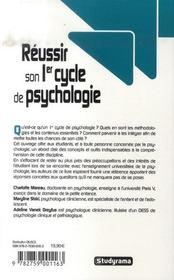 Réussir son premier cycle de psychologie (édition 2007-2008) - 4ème de couverture - Format classique