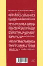 Phytotherapie Chinoise Moderne (La) - 4ème de couverture - Format classique