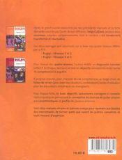 Rugby ; niveaux 1 et 2 ; manuel pour l'éducateur, l'entraîneur et l'enseignant - 4ème de couverture - Format classique