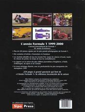 Annee Formule 1 1999-2000 - 4ème de couverture - Format classique