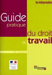 Guide pratique du droit du travail (9e édition) - Couverture - Format classique