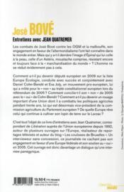 Du Larzac à Bruxelles - 4ème de couverture - Format classique