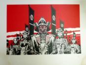 Ugaki. Le serment du samouraï. Grande sérigraphie rouge et noir, numérotée 80/150 ex., signée par Gigi. - Couverture - Format classique