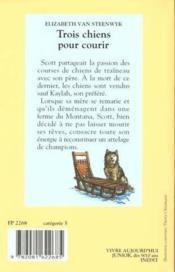 Trois Chiens Pour Courir. Collection Castor Poche N° 416 - Couverture - Format classique