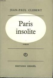 Paris Insolite. - Couverture - Format classique