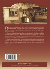 Les restaurants strasbourgeois - 4ème de couverture - Format classique