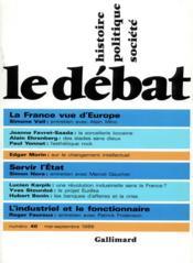 Revue Le Débat N.40 - Couverture - Format classique