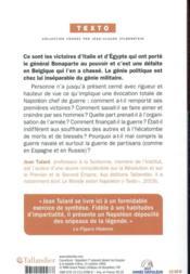 Napoléon chef de guerre - 4ème de couverture - Format classique