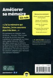 Améliorer sa mémoire poche pour les nuls - 4ème de couverture - Format classique