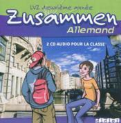 Allemand ; lv2 ; 2e année ; cd audio de la classe (édition 2006) - Couverture - Format classique