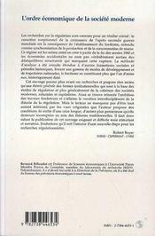 Ordre Economique De La Societe Moderne - 4ème de couverture - Format classique
