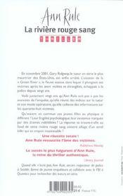 La riviere rouge sang - 4ème de couverture - Format classique