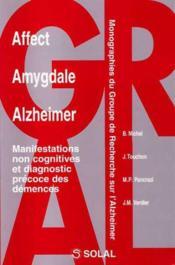 Affect, amygdale, Alzheimer ; manifestation non cognitives et diagnostic précoce des démences - Couverture - Format classique