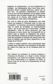 Schizophrénies françaises - 4ème de couverture - Format classique