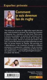Confessions Erotiques T.404 ; Comment Je Suis Devenue Fan De Rugby - 4ème de couverture - Format classique