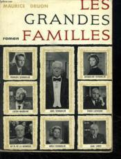 Les Grandes Familles. - Couverture - Format classique