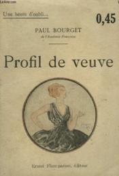 Profil De Veuve. Collection : Une Heure D'Oubli N° 1 - Couverture - Format classique