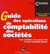 Guide des operations de comptabilite des societes - Intérieur - Format classique