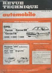 Revue Technique Automobile - Avril 1983 - N°432 - Evolution De La Construction Peugeot 504 Fiat 132 Argenta - Etude Technique Opel Corsa - Corsa Sr - Corsa Tr 1000/1200/1300 - Couverture - Format classique
