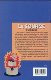 La source t.2 ; l'abondance - 4ème de couverture - Format classique