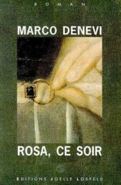 Rosa, ce soir - Couverture - Format classique