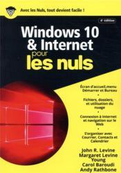 Windows 10 & internet pour les nuls (4e édition) - Couverture - Format classique