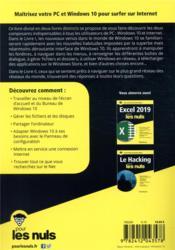 Windows 10 & internet pour les nuls (4e édition) - 4ème de couverture - Format classique