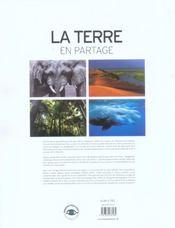 La terre en partage ; éloge de la biodiversité - 4ème de couverture - Format classique