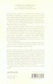 L'autonomie énergétique ; une nouvelle politique pour les énergies renouvelables - 4ème de couverture - Format classique
