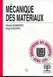Mécanique des matériaux - Couverture - Format classique