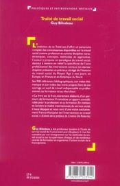 Traite de travail social - 4ème de couverture - Format classique