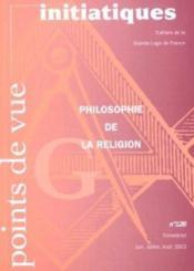 Points De Vue Initiatiques N.126 ; Philosophie De La Religion - Couverture - Format classique