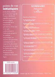Points De Vue Initiatiques N.126 ; Philosophie De La Religion - 4ème de couverture - Format classique