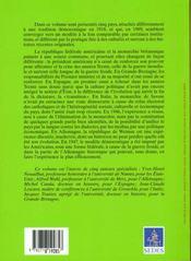 Democraties Occidentales Et Bouleversements De L'Histoire T.2 ; Allemagne. Angleterre. Espagne. Etats-Unis. Italie - 4ème de couverture - Format classique