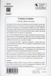 Contes à conter - 4ème de couverture - Format classique