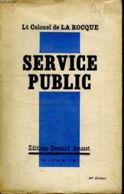Service Public. - Couverture - Format classique