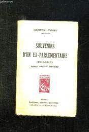 Souvenirs D Un Ex Parlementaire 1914 - 1919. - Couverture - Format classique