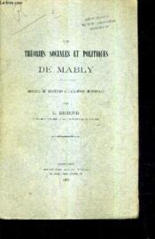 Les Thoeires Sociales Et Politiques De Mably / Discours De Reception A L'Academie Delphinale /(Plaquette). - Couverture - Format classique