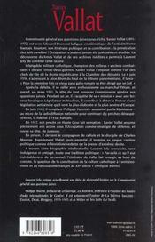 Vallat, 1891-1972 ; du nationalisme chrétien à l'antisémitisme d'Etat - 4ème de couverture - Format classique